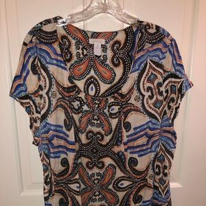 Patterned top from Chicos